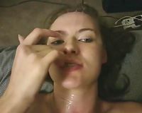 Emotional green eyed horny babe got her hungry asshole hammered hard