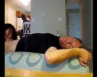 Ultra skinny wife lets BBC have her and finishes hubby in her mouth