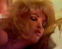 BLonde doxy took two big and thick knobs in her back gap