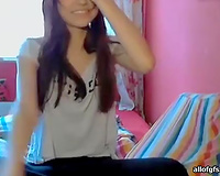 Amazingly beautiful redhead likes stripping in front of her livecam