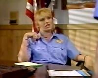 Sexy female police office got her muff gangbanged