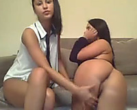 Insanely hawt latin chick brunettes turn out to be lesbos