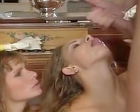 Busty redhead sexy milf and fleshly youthful white girl having orgy
