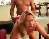 Wife's face when she's taking first BBC sex in vacation