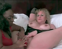 Fat dark white bitch fake penis bonks golden-haired BBC slut