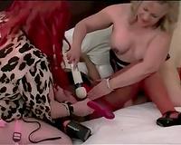 Three plump babes lesbo interracial sex