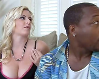 Curvy white slutwife puts her throat all over the BBC