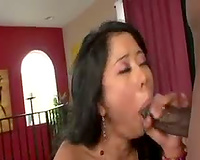 Turned on by a chunky Asian chick with large marangos