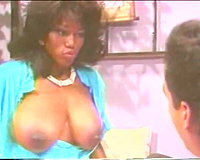 Retro porn with a large melons dark tease