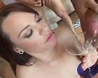 Dana DeArmond drinks down hawt cum