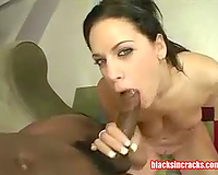 Black stud with large penis nails white whore
