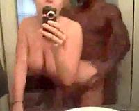 White wife films dark fellow fucking her