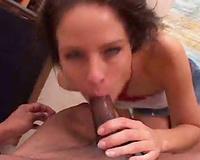 Slut rims his arse and sucks his dark jock