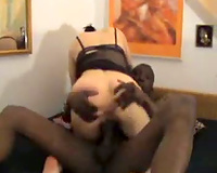 Wife sits on lengthy and rock hard schlong
