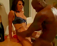 Awesomely sexy Married slut has interracial sex