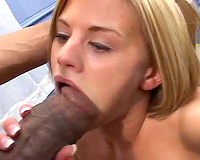 Huge dark rod fucking her throat