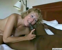 Amateur Married slut taking the large dark wang