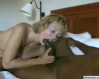 Amateur Married slut taking the large dark wang