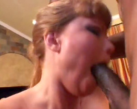 Sexy milf drilled by his large hard dark wang
