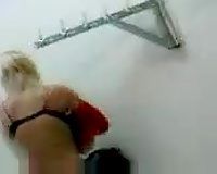 Spy video of my blond coed changing her clothes in college room