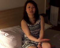 Real 20yo asian college wife student takes her first BBC
