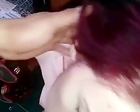 Redhead slut wife loves sucking bf's cock