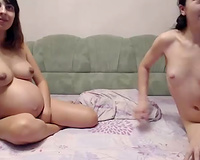 Pregnant white bitch let my buddy be teased by some other whorish nympho