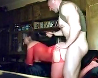 Curvaceous floozy drilled brutally in a doggy position