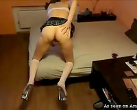 Submissive white girlfriend likes giant dick of her boyfriend