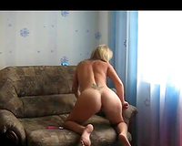 Sexy milf slut wife plays with her panties and dildo