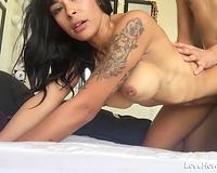 Tatooed slut wife Loves Doggystyle Banging