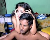 Beautiful Srilankan youthful black cock sluts and her hot husband on cam