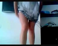 Latina dark brown in summer dress acquires wild on livecam
