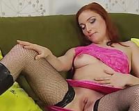 Rubbish redhead floozy Nataliya gives head and eats dude's a-hole