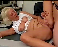 Chubby German granny from Hamburg loves my young cock