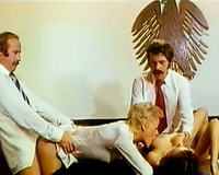The uncontrollable vintage groupsex in the court room