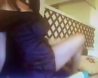 Torrid black haired also pallid skype cam slut was posing for me