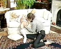 Depraved golden-haired secretary got her love tunnel screwed by her ally