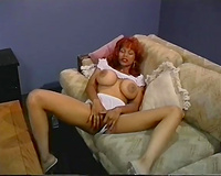 Horny as fuck redhead mommy masturbates passionately