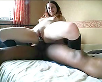 Very excited student girl from UK enjoyed riding my thick 9 inch BBC
