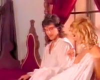 Fine and lean majestic blondie in vintage porn scene