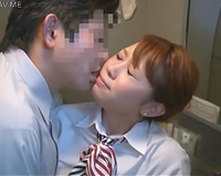 Sexy stewardess is jerking off my wang with her hand on a plane