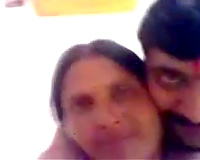 Amazing Indian aged wifey lets her fellow engulf her truly massive boobies