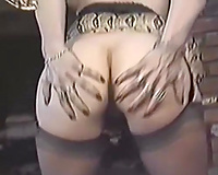 Horny and perverted blondie just can't live without to ride big dongs