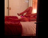 Sex on vacation! Wife balcony voyeur