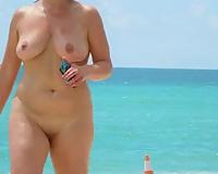 Sex on vacation! Walking on nude beach