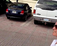 public parking lot flash boobs wife sex on vacation