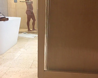 Hidden cam of my wife in the shower on vacation
