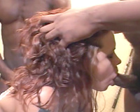 Desirable redhead vixen acquires double permeated by BBCs