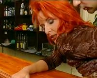 Horny redhead hoochie lets man nail her inviting dark eye